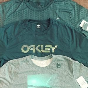 Mens Oakley Nike and Hurley t-shirts